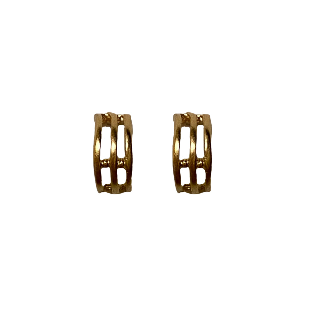 Satin Greco Hoop Post Earrings