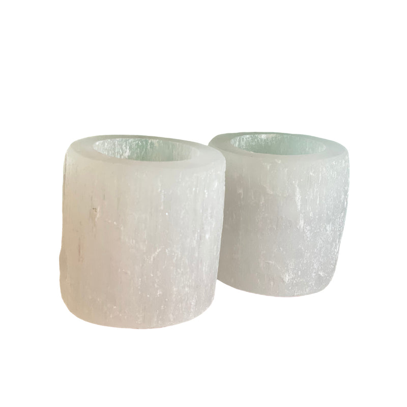Selenite Candle Holder