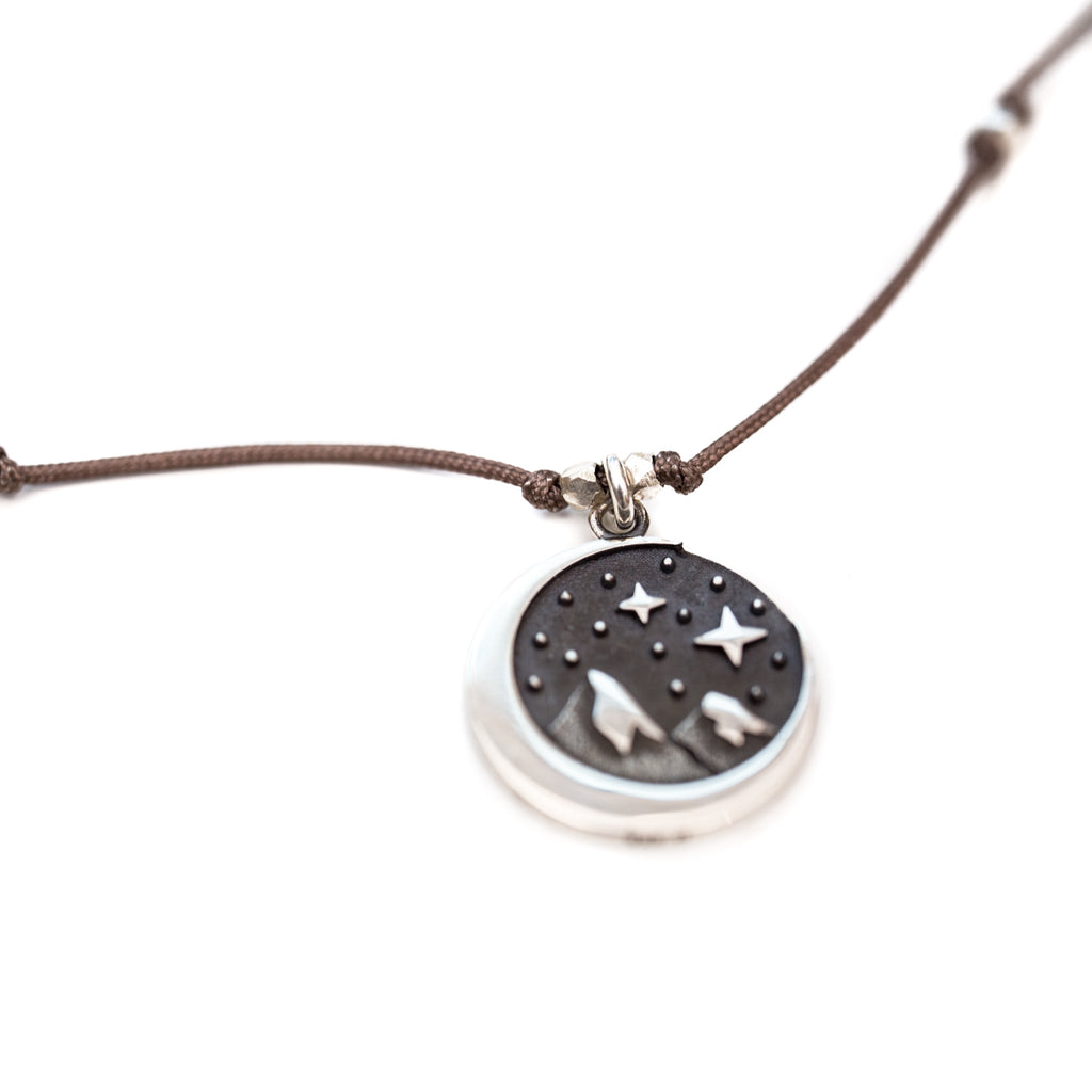 Our Stargazer necklace is water worthy, strong and a Bronwen Jewelry favorite. Perfect for your active lifestyle