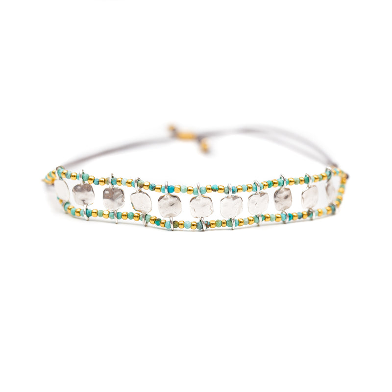Our stretch Starlight gemstone bracelets are adjustable and unique. A Bronwen Jewelry favorite for your active lifestyle