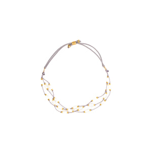 Our stretch Halo Mother of Pearl anklet is fun, durable and a Bronwen Jewelry favorite. Jewelry for an active lifestyle