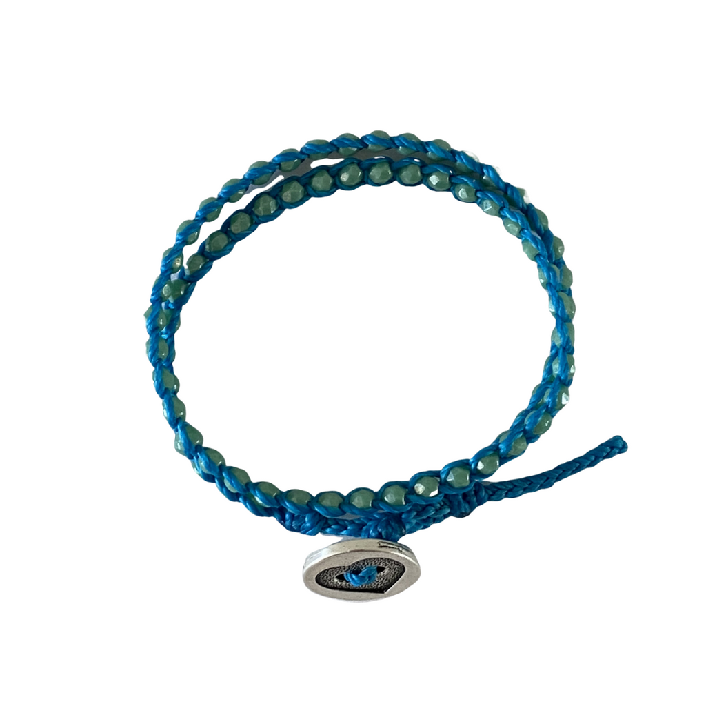 Summer of Love Wrap Bracelet - Aqua