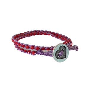 Summer of Love Wrap Bracelet - Red