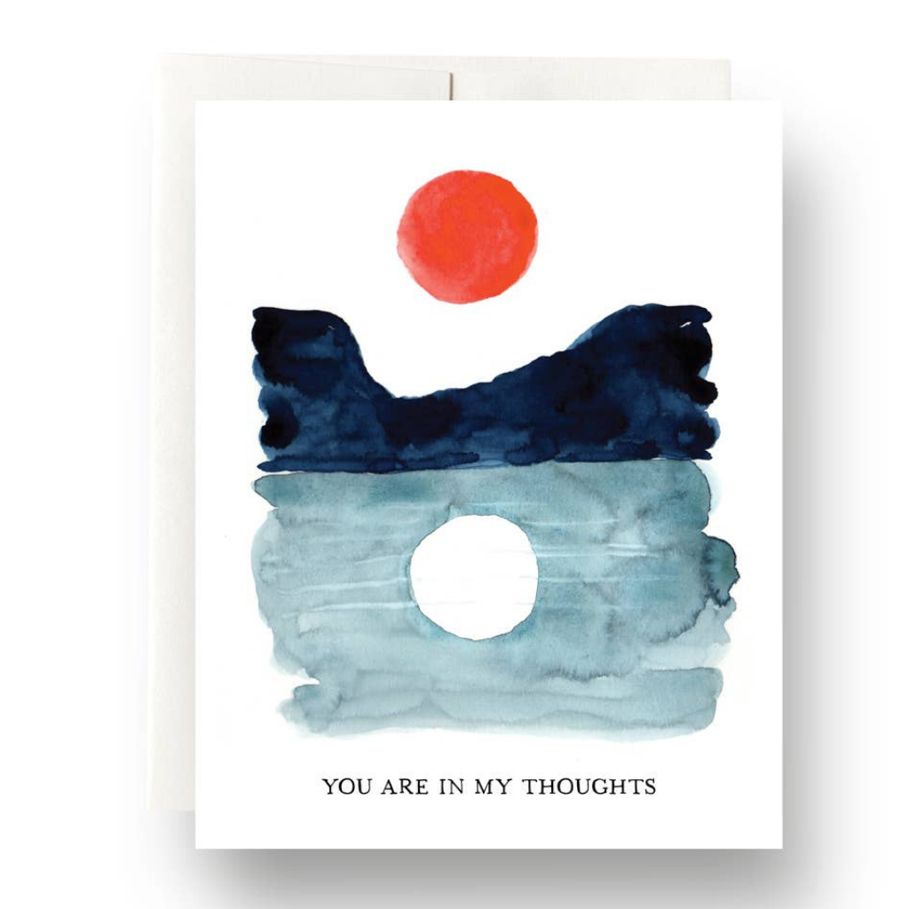 Sun & Moon in My Thoughts Card
