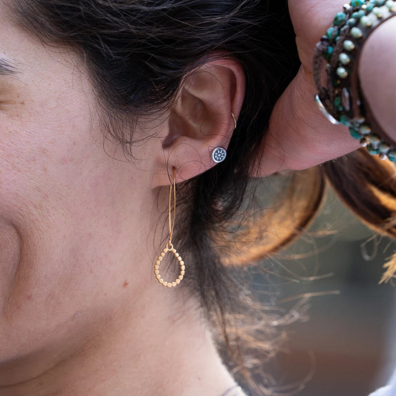 Soleil Post earrings are lightweight and lovely, the perfect Bronwen Jewelry gift for the adventure girl in your life