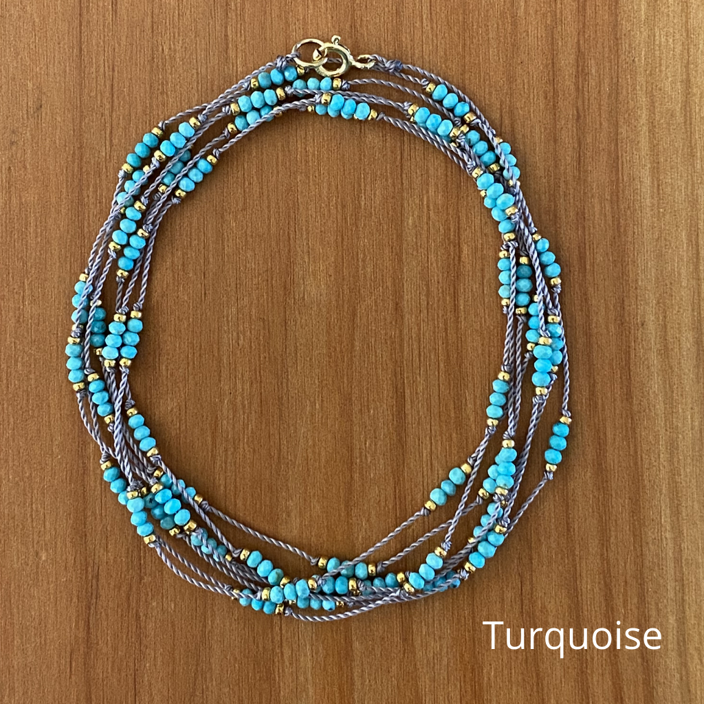 Thai Triple Wrap Necklace