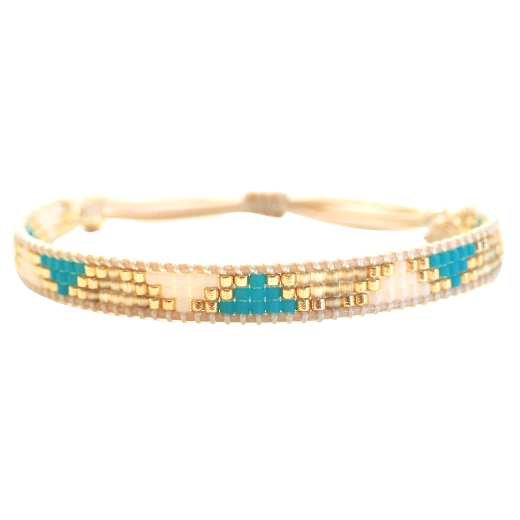 Rosa Bracelet - Turquoise Triangles