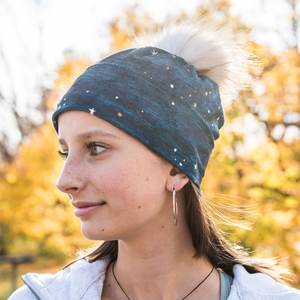 Pom Pom Hat - Starry Night