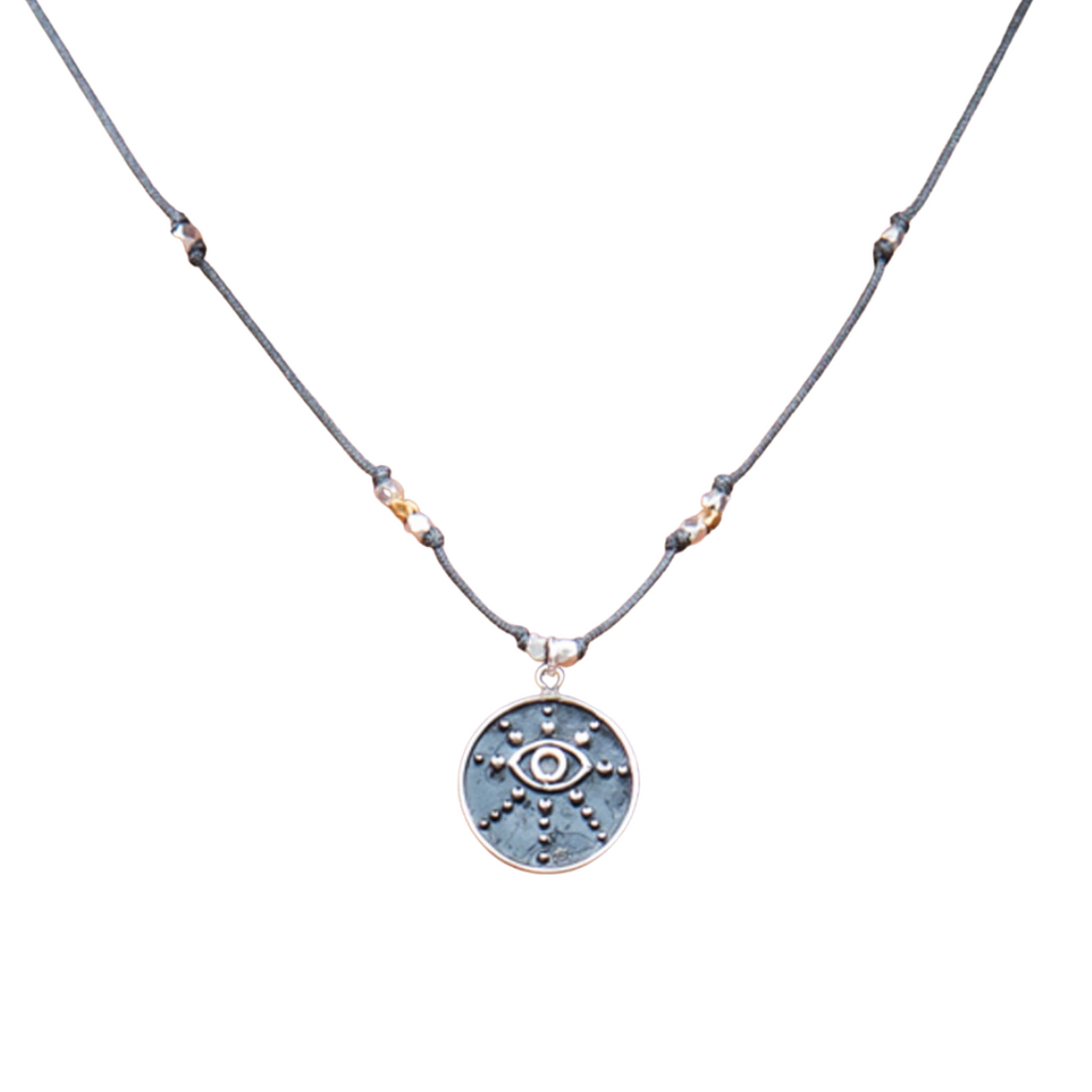 Third Eye Mixed Metal Necklace