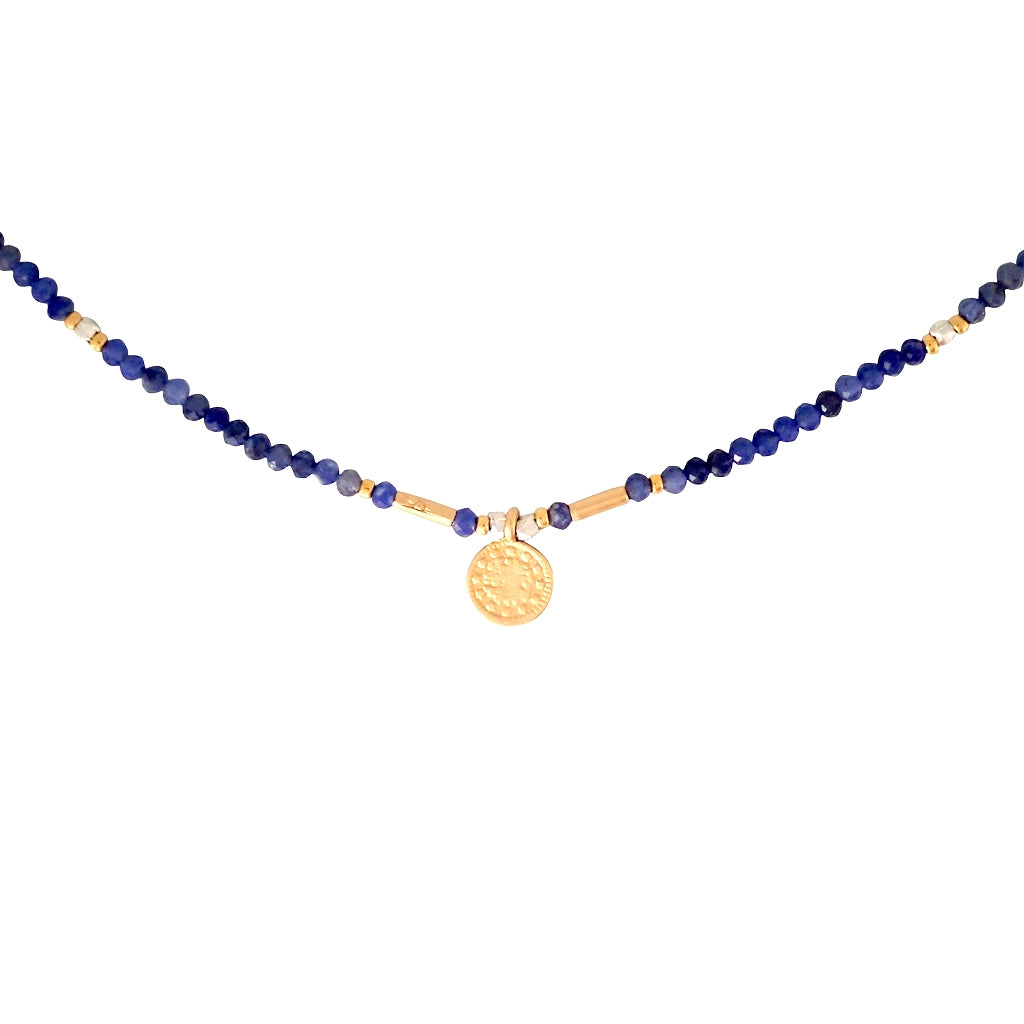Athena Necklace is delicate and durable, a beautiful Bronwen Jewelry gemstone piece for your active lifestyle
