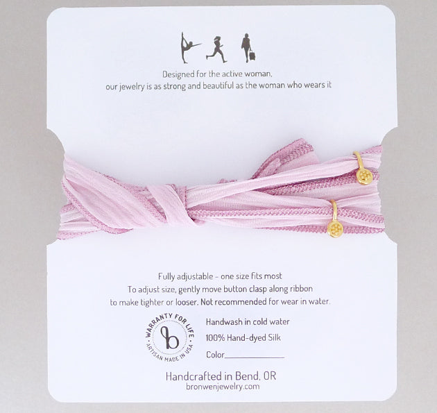 Ribbon Wrap - Baby Pink/Metallic