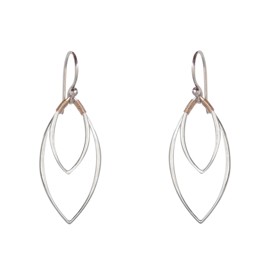 Balance mixed metal earrings are lightweight and lovely, the perfect Bronwen Jewelry gift for the adventure girl in your life