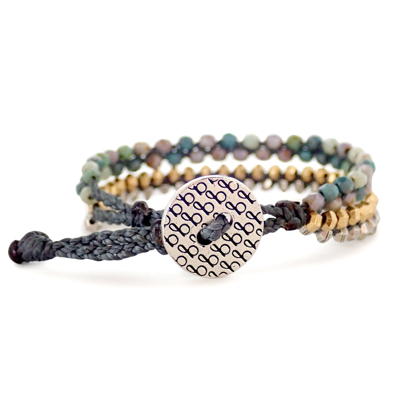 Beleza is a Bronwen Jewelry beaded beauty. Water worthy, elegant and adjustable for all your active pursuits.