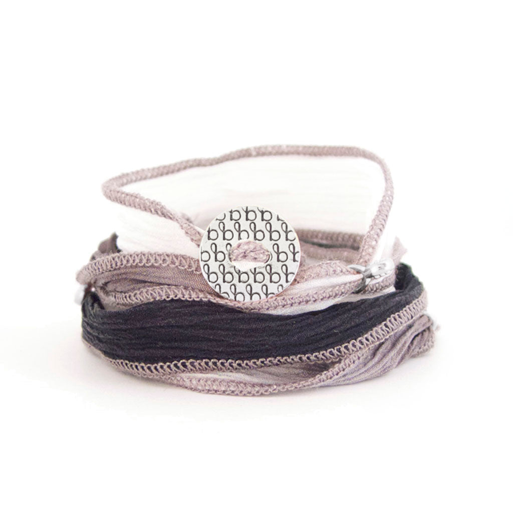 Ribbon Wrap - Black, White & Grey