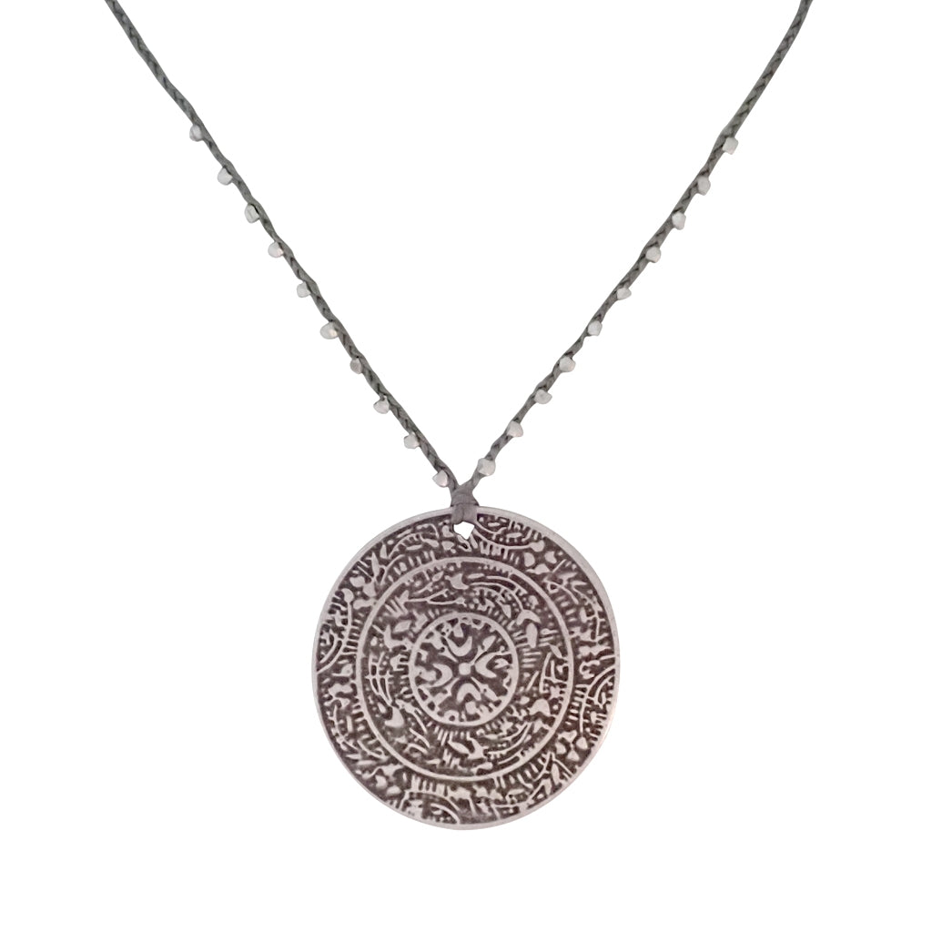 Our Braided Romana pendant necklace is hand braided; durable, delicate and decidedly Bronwen Jewelry.