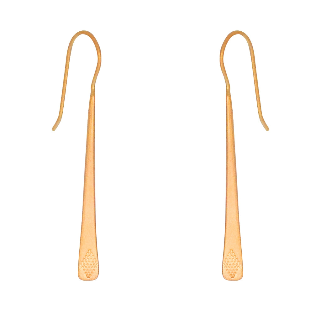 Bar Drop earrings are a Bronwen Jewelry favorite. In silver or gold, this long earring jazzes up every outfit