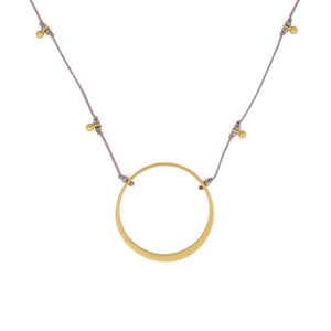 Circle of Life necklace is water worthy, durable and a Bronwen Jewelry favorite. Active jewelry for an active lifestyle.