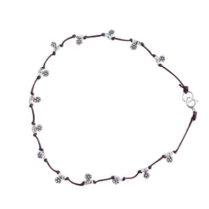 Our Daisy Chain anklet is water worthy, durable and a Bronwen Jewelry favorite. Beautiful jewelry for an active lifestyle