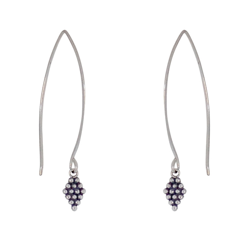 Diamonds in the Sky earrings are a Bronwen Jewelry favorite. Long or short, silver or gold, they are perfect for any activity