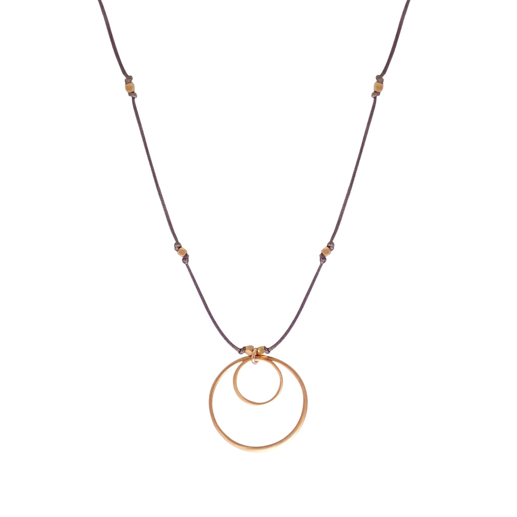 Our Eclipse necklace is water worthy, durable and a Bronwen Jewelry favorite. Beautiful jewelry for an active lifestyle.