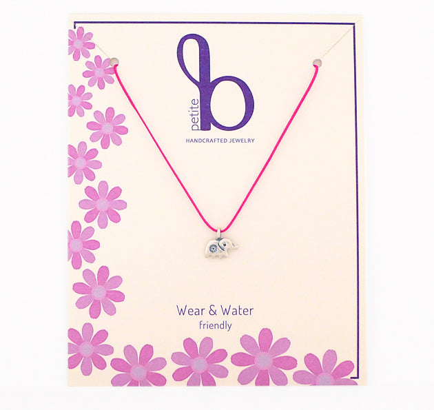 Petite B Kids necklaces are water worthy and durable, a Bronwen Jewelry bestseller. Active jewelry for your little one