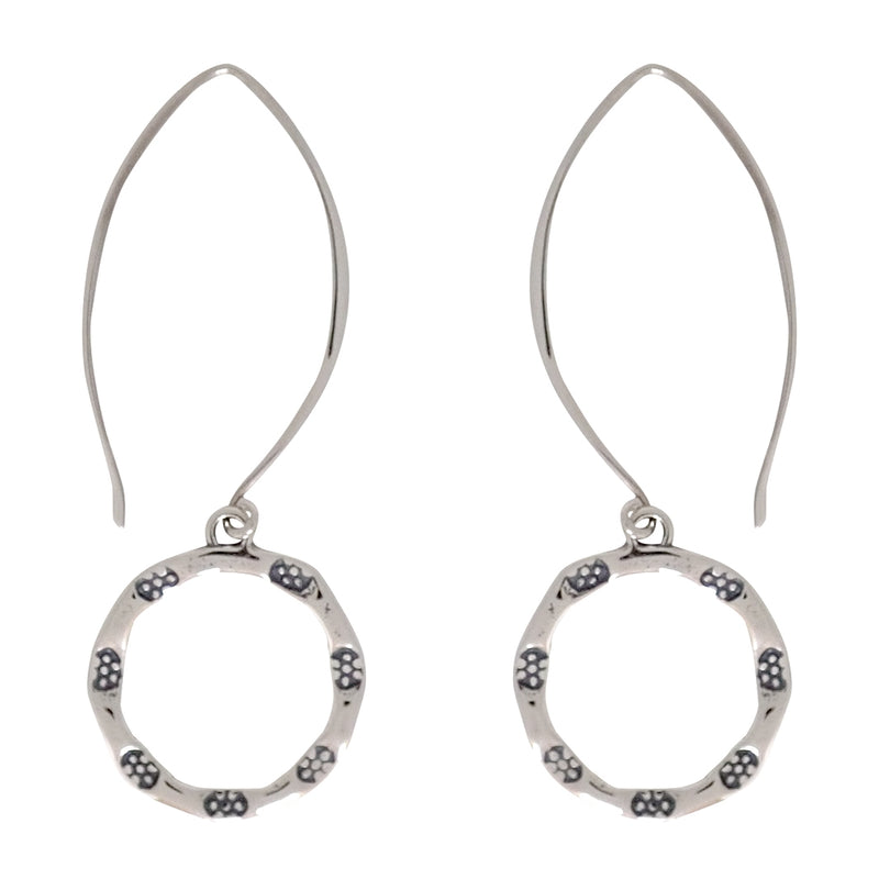 Emergence earrings are a Bronwen Jewelry bestseller. Long or short, silver or gold, they are everyday active-chic