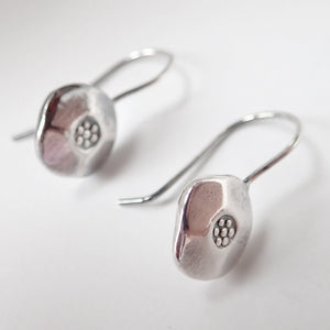 Flower Child earrings are a Bronwen Jewelry bestseller. Short at just 1 inch, silver or gold, they are everyday active-chic