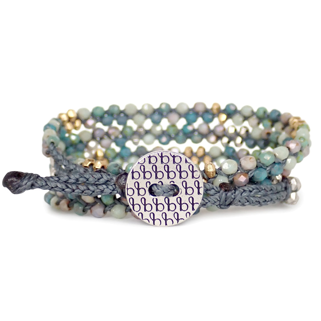 Glasswrap bracelets, handmade with glass beads are adjustable, water worthy and a Bronwen Jewelry favorite for active lives.