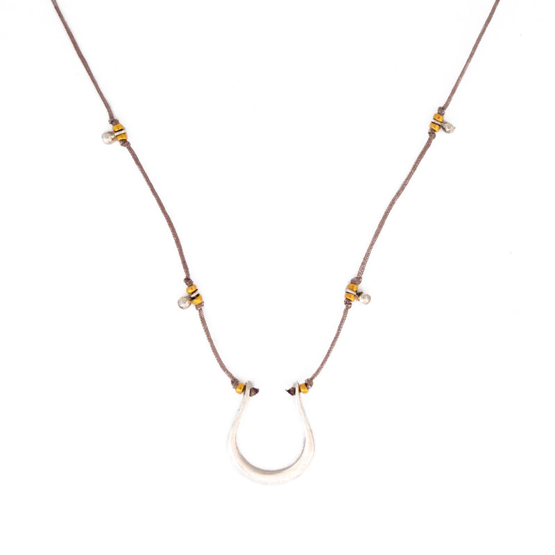 Our Horseshoe necklace is water worthy, durable and a Bronwen Jewelry favorite. Beautiful jewelry for an active lifestyle