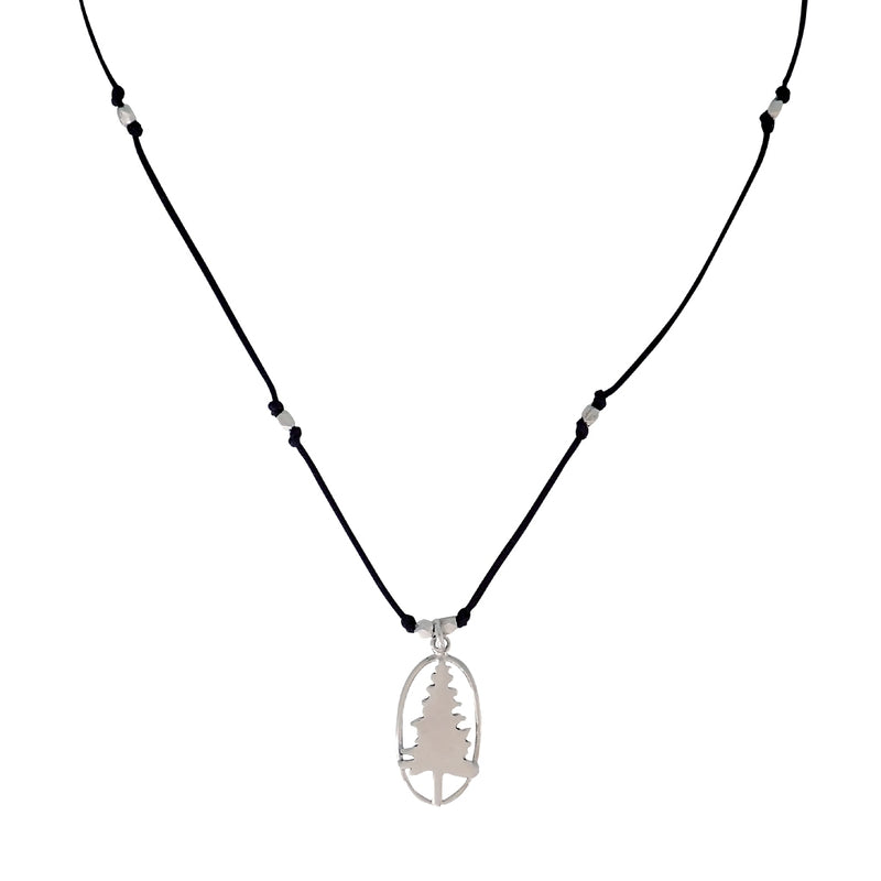 Mixed metal Lone Pine necklace is water worthy and strong. Wear this Bronwen Jewelry for all your outdoor activities