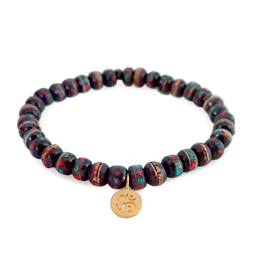 Our Mala stretch beaded bracelet is fun, durable and a Bronwen Jewelry favorite. Beautiful jewelry for an active lifestyle.