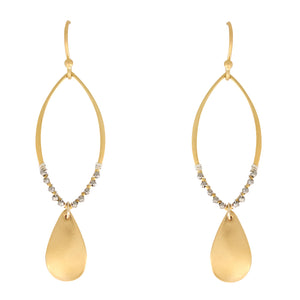 Semplice mixed metal earrings are bold and beautiful just like you. Artisan made in the USA, a Bronwen Jewelry favorite