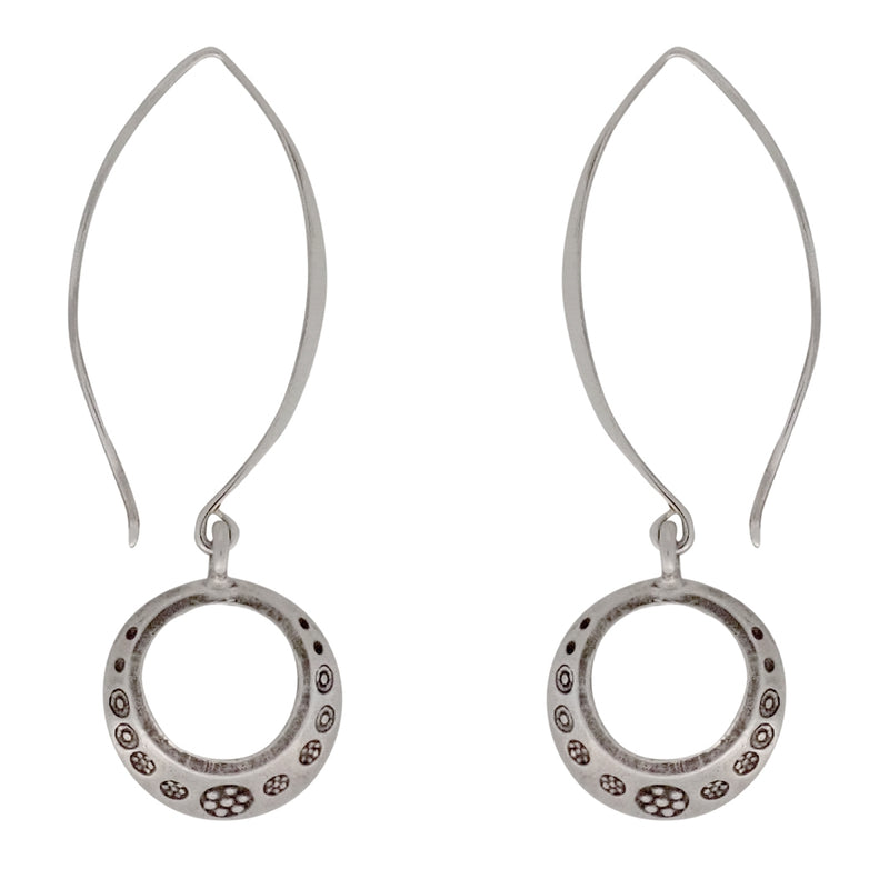 Open Mind Drop earrings cast in Thai silver are the perfect Bronwen Jewelry gift for the adventure girl in your life