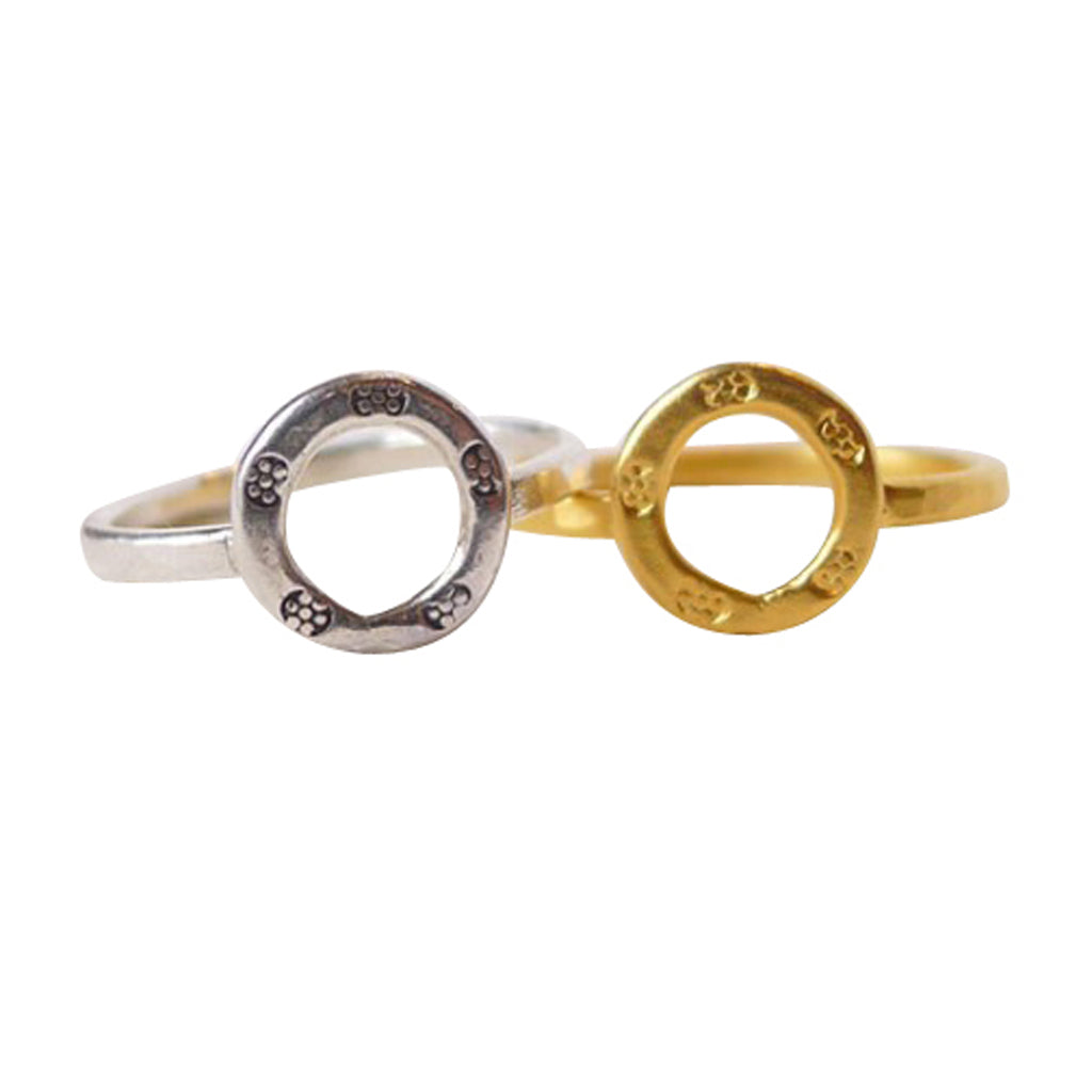 Our Tiny Charm rings are lightweight and strong, a Bronwen Jewelry staple for your active lifestyle