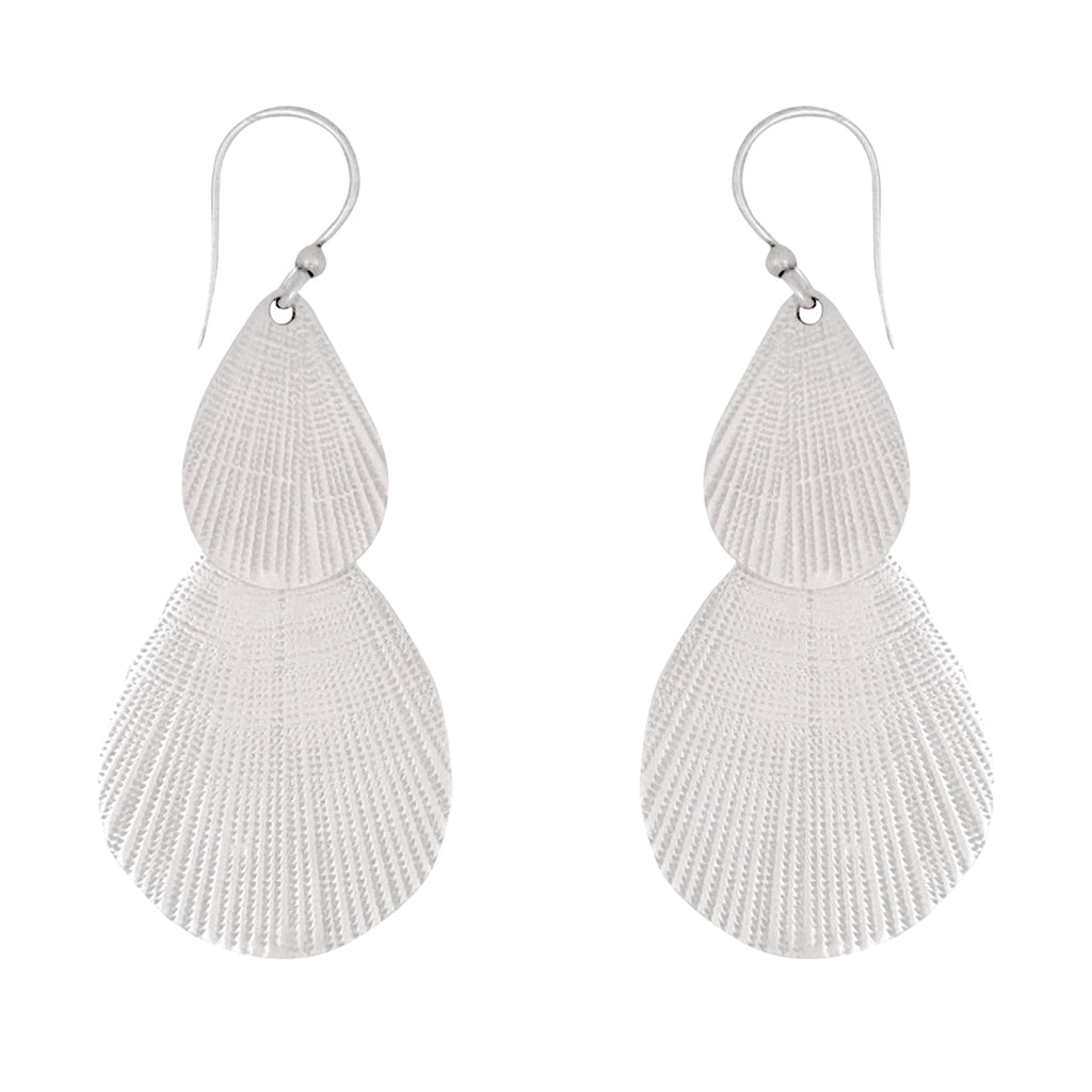 Palawan Earrings are beautiful artisan statement earrings in sterling silver, a Bronwen Jewelry special design