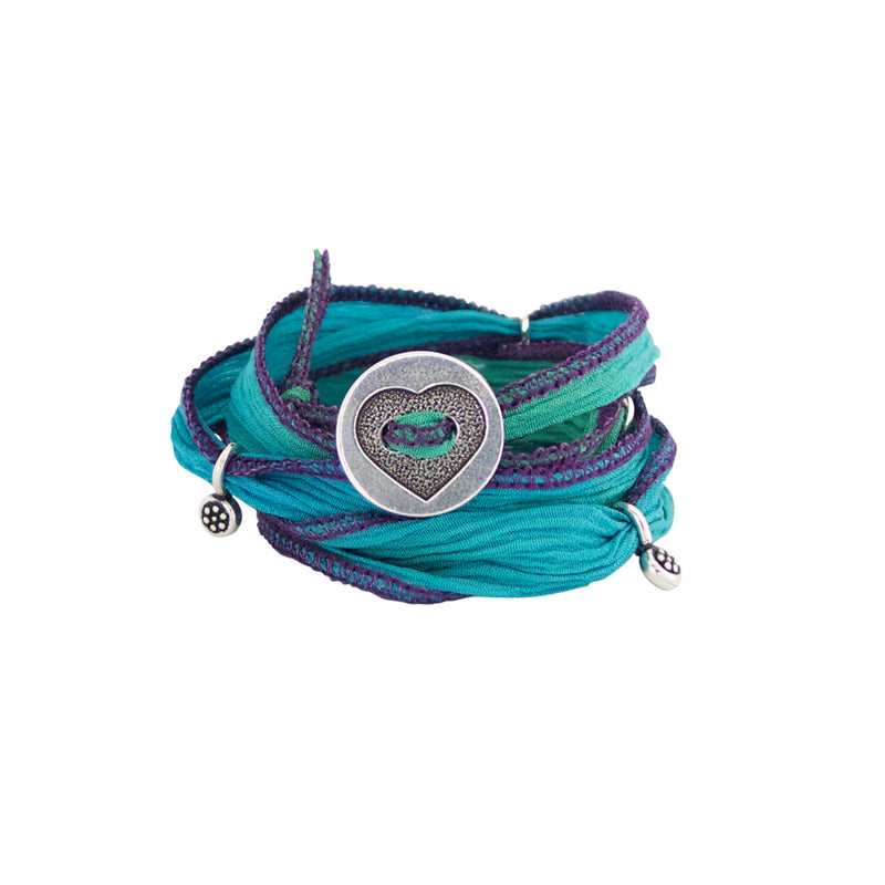 Our Kids Ribbon Wrap bracelets are colorful, adjustable and so cute. A Bronwen Jewelry bestseller for your active kids