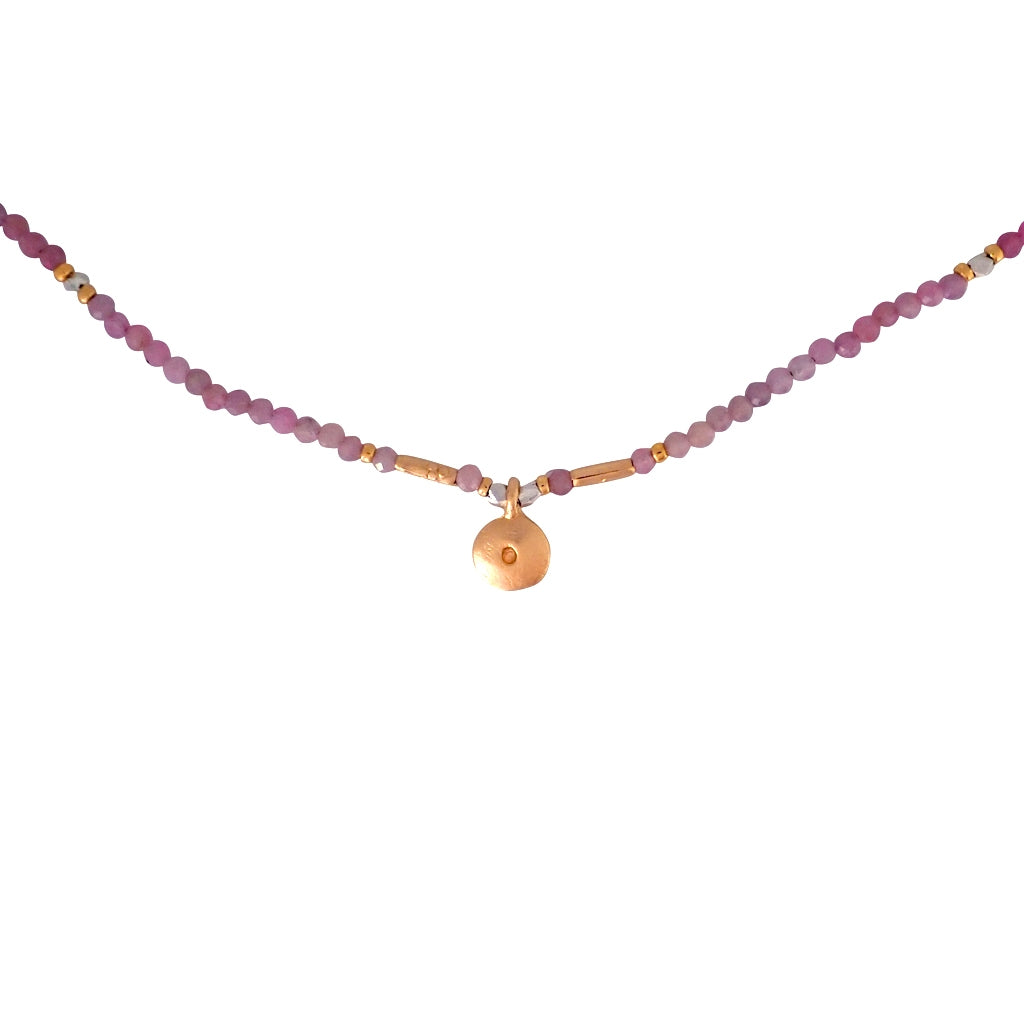 Our Preciosa necklace is a delicate yet durable gemstone beauty, a Bronwen Jewelry pick. Perfect for an active-chic lifestyle