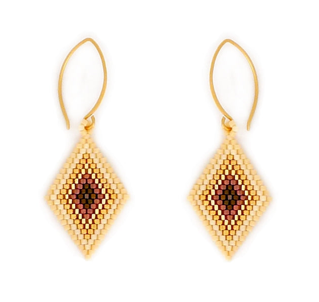 Roam Beaded Diamond Earrings are part of Bronwen Jewelry World Market, ethically sourced and beaded by hand just for you