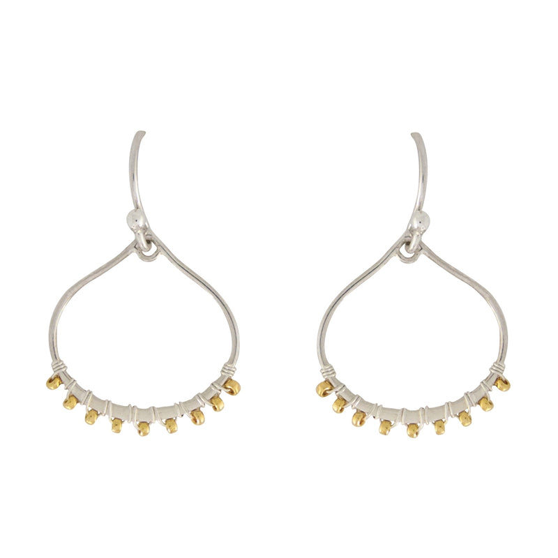 Our Samba mixed metal earrings are lightweight, they come short or long and are the perfect Bronwen Jewelry active-chic gift