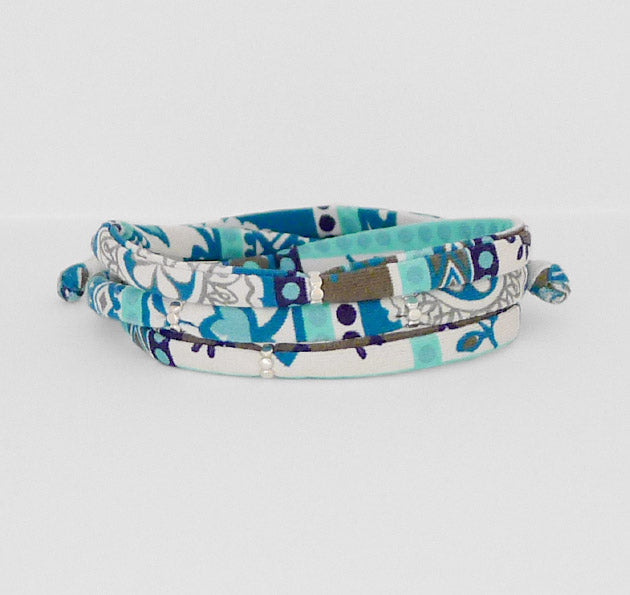 Swim Wrap bracelets are water worthy, colorful, adjustable and unique. A Bronwen Jewelry/Carve Design collaboration