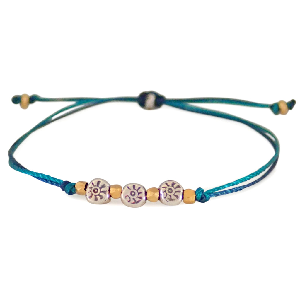 Soleil bracelets are dainty, durable and water worthy, a Bronwen Jewelry favorite. Active jewelry for an active lifestyle.