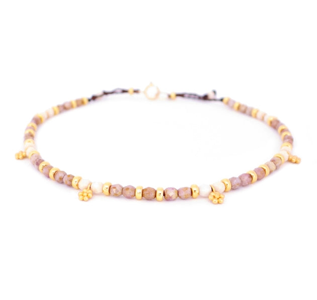 Solstice anklets are Bronwen Jewelry beaded beauties. Water worthy, elegant and adjustable for all your active pursuits