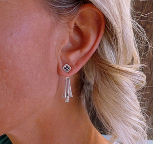 Our Ear Jackets come in silver and gold a Bronwen Jewelry pick for travel and adventure