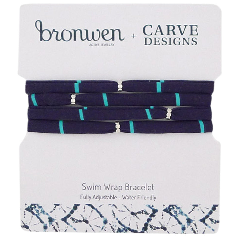 Swim Wrap Bracelet - Navy Stripe