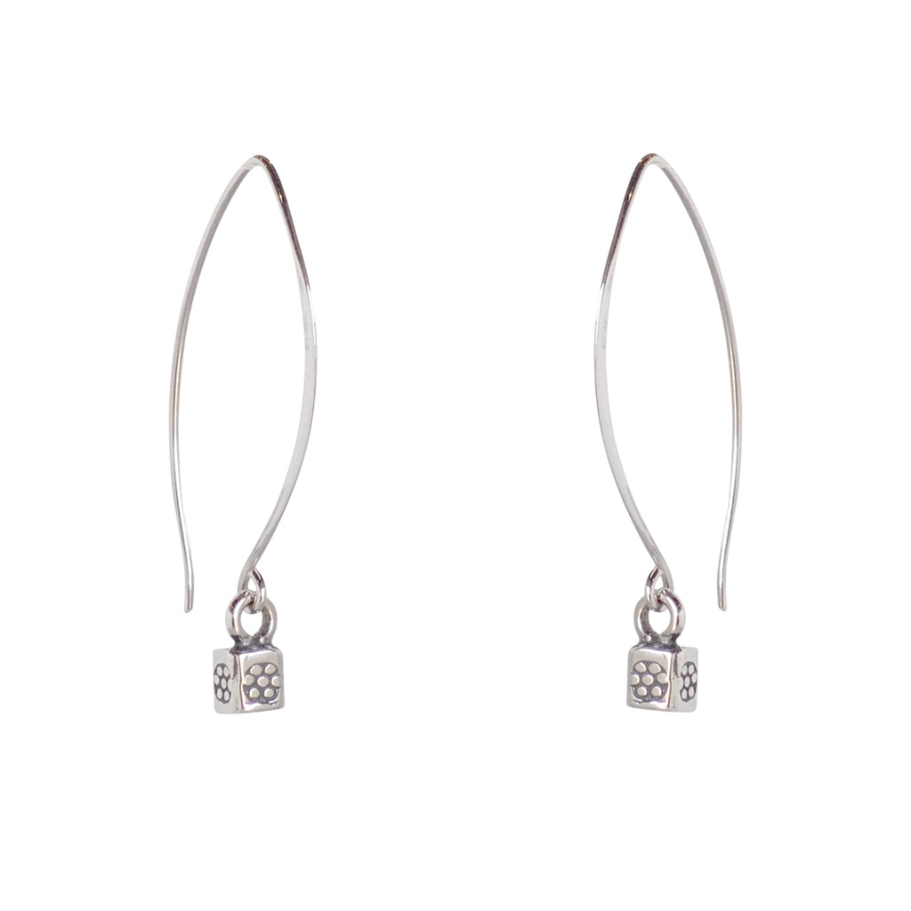 Talisman earrings are a Bronwen Jewelry bestseller. Long or short, silver or gold, they are everyday active-chic