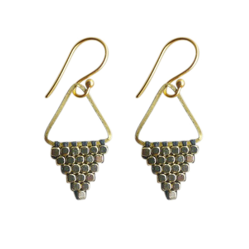 Tapestry earrings are lightweight, come long or short, the perfect Bronwen Jewelry gift for the adventure girl in your life