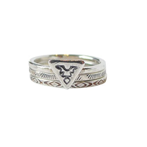 Thunderbird Silverstack rings are sleek and strong, a Bronwen Jewelry staple for your active lifestyle