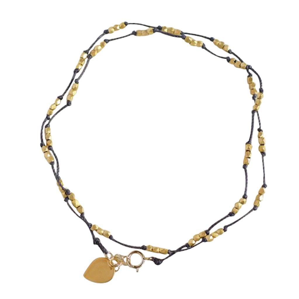 Thai Trail anklet in silver or gold, is a water worthy Bronwen Jewelry favorite. Beautiful jewelry for an active lifestyle