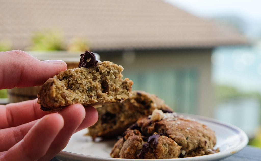 Choc Chip Hemp Protein Cookies - The Brothers Green