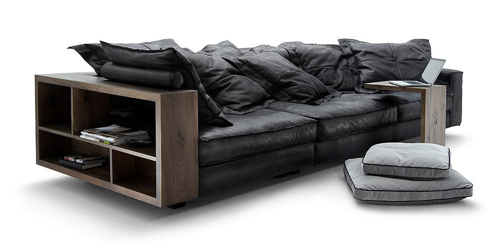 Back to Black Leather Sofa - caliamaddalena